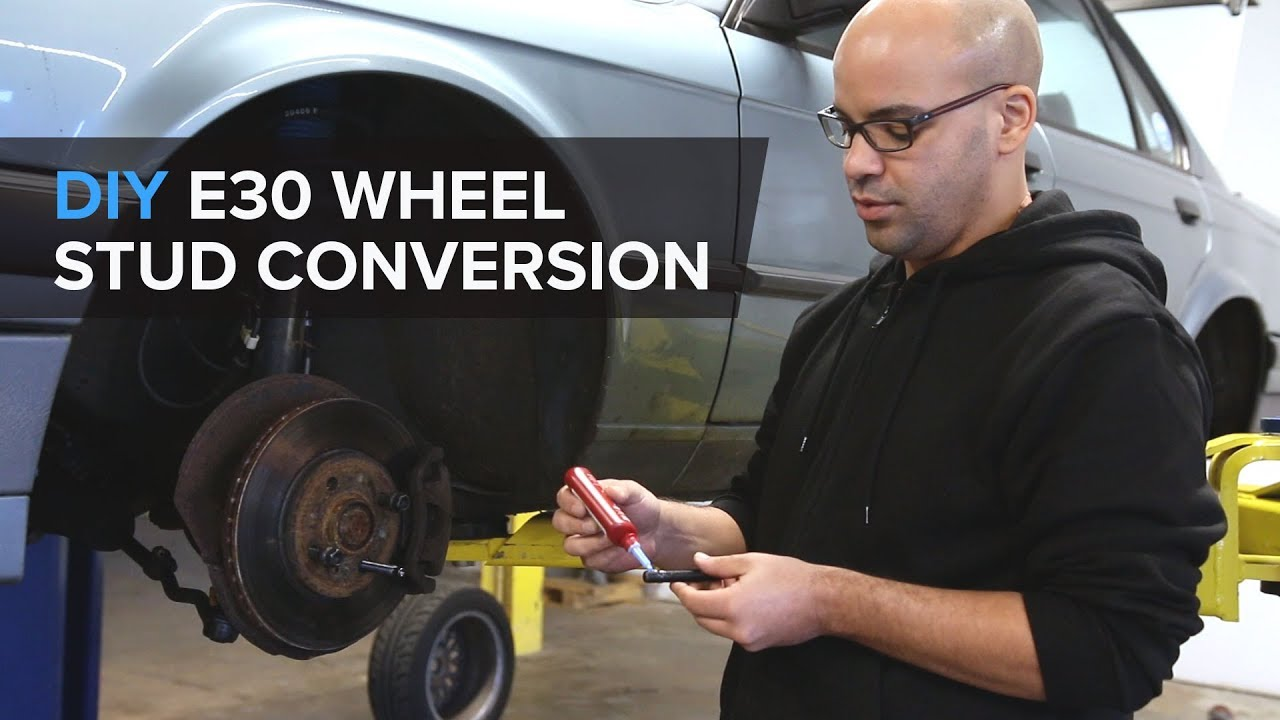 How To Convert Wheel Lug Bolts To Wheel Studs - Easy DIY - Under 4 Minutes!