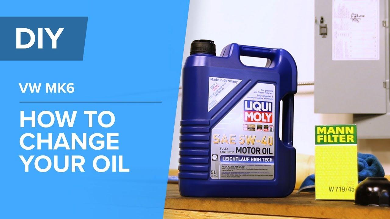 VW MK6 DIY - How to Change Your Engine Oil - AudiVW (Jetta, Passat, GTI, A3, TT, Tiguan, CC, Q3,)
