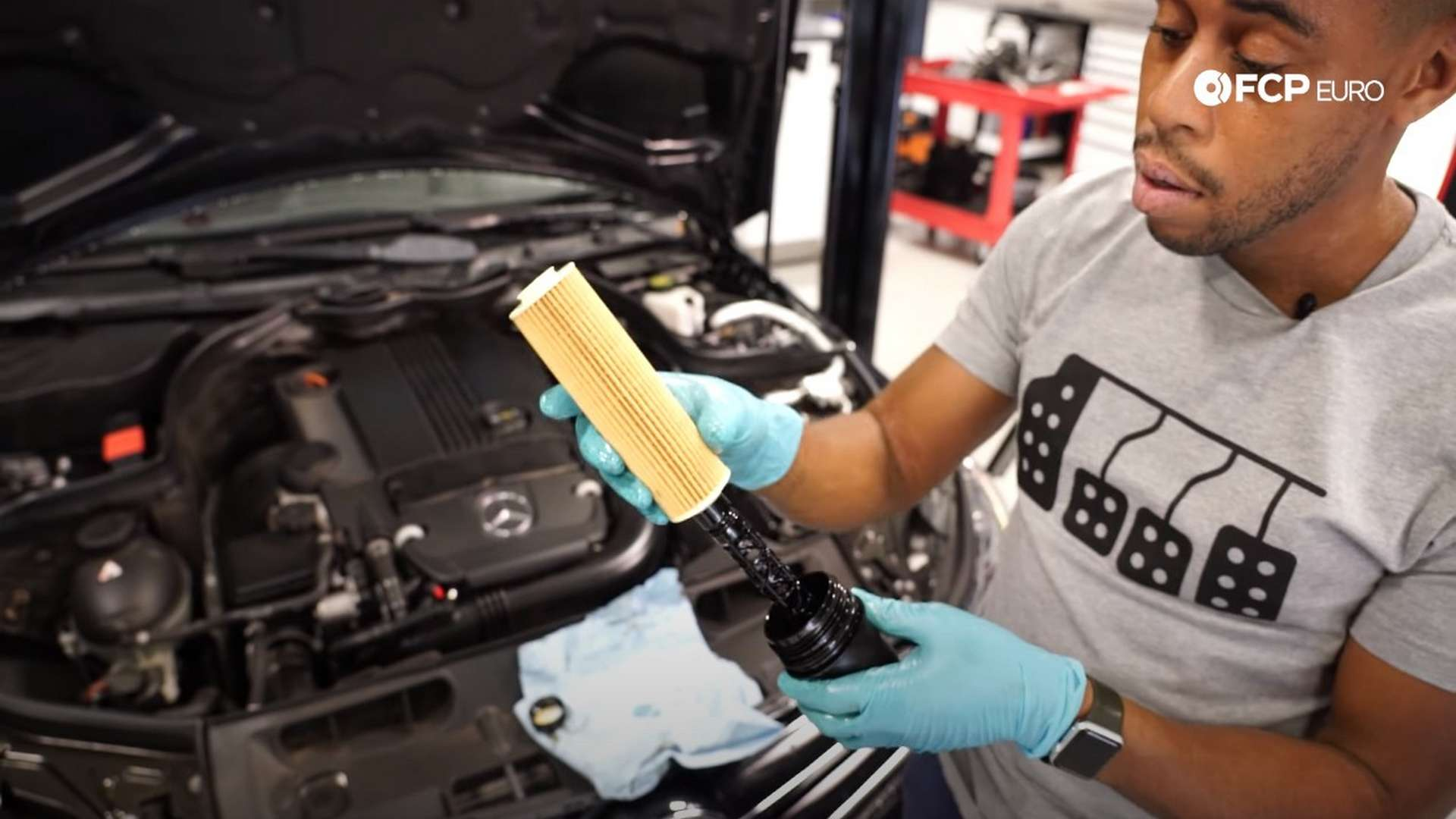 How To Change The Oil On A Mercedes-Benz C250 (M271 Engine)
