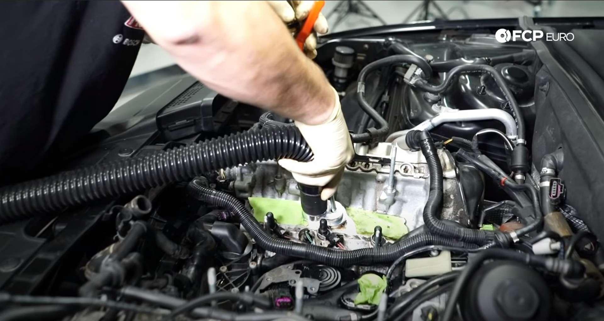 How To Walnut Blast Intake Valves On An Audi 3.0t Engine