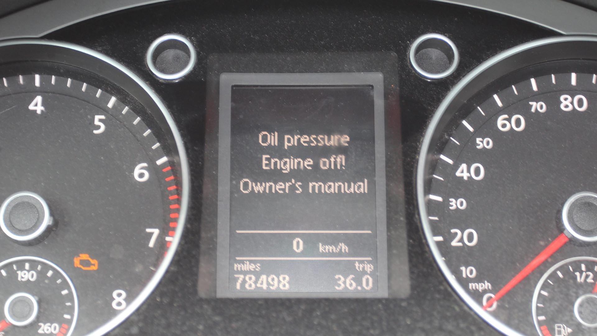 Diagnosing Low Oil Pressure On A VW CC TSI (Volkswagen EA888 2.0 TSI)
